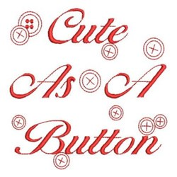 Redwork Buttons embroidery design