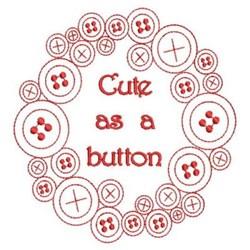 Redwork Button Wreath embroidery design