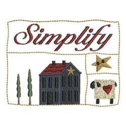 Country Simplify embroidery design