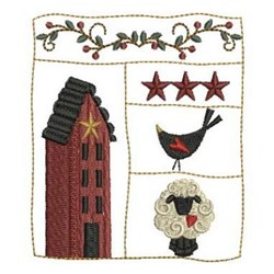 Country Simplify Scene embroidery design