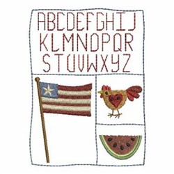 Country Alphabet embroidery design