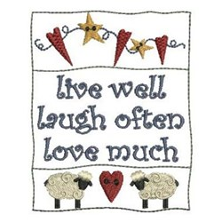 Country Live Well embroidery design