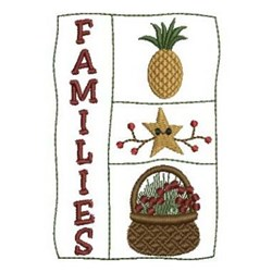 Country Families embroidery design
