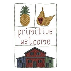 Country Primitive Welcome embroidery design