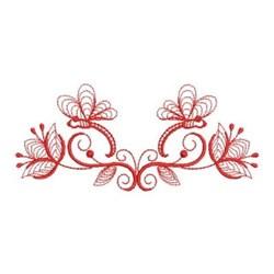 Redwork Heirloom Dragonfly Border embroidery design
