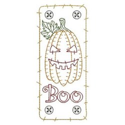 Halloween Pumpkin Redwork embroidery design