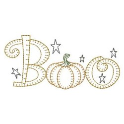 Redwork Halloween Boo embroidery design