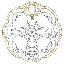 Redwork Halloween Characters embroidery design
