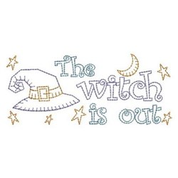 The Witch Is Out embroidery design
