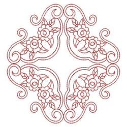 Redwork Rose Quilt Blocks embroidery design