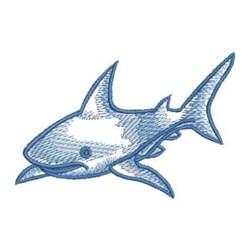 Sketched Shark embroidery design