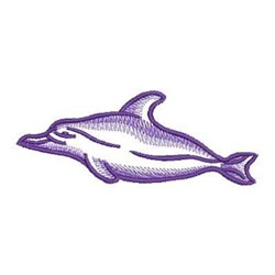 Sketched Dolphin embroidery design