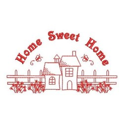 Redwork Home Again embroidery design
