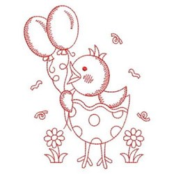 Redwork Chick embroidery design
