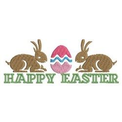 Happy Easter Rabbits embroidery design