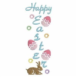 Happy Easter Border embroidery design