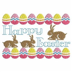 Happy Easter Sign embroidery design