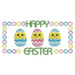 Happy Easter Chicks embroidery design