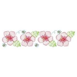 Summer Hibiscus Border embroidery design