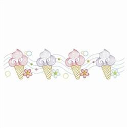 Ice Cream Border embroidery design