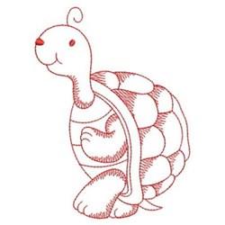 Redwork Turtle embroidery design