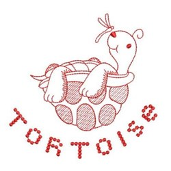 Redwork Tortise embroidery design