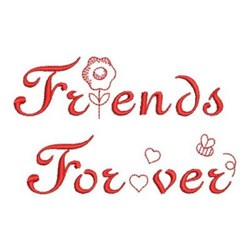 Redwork Friends Forever embroidery design