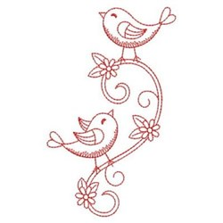 Redwork Friends Forever Birds embroidery design