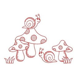 Redwork Friends Forever Snails embroidery design