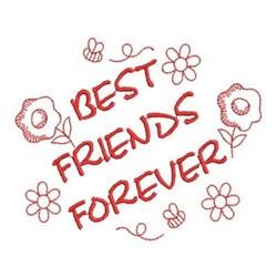 Redwork Best Friends embroidery design