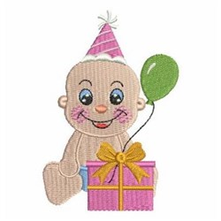 Birthday Baby & Gift embroidery design