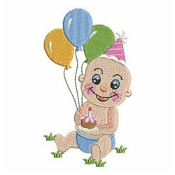 Birthday Baby & Cupcake embroidery design