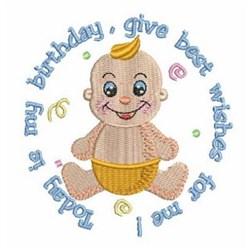 Babys Birthday embroidery design