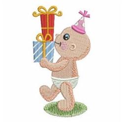 Birthday Baby & Presents embroidery design