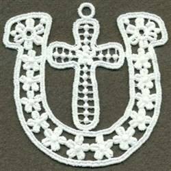 FSL Horseshoe & Cross embroidery design