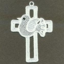 FSL Cross  & Dove embroidery design