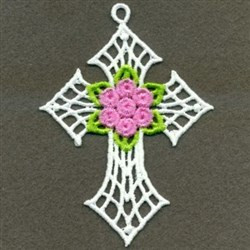 FSL Cross & Roses embroidery design