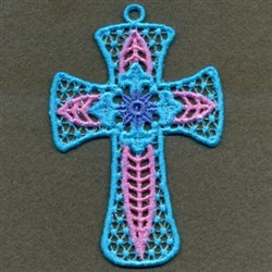 FSL Blue Cross embroidery design