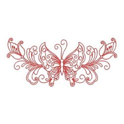 Redwork Heirloom Butterfly Swag embroidery design