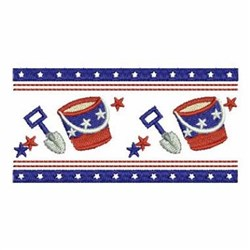 Patriotic Shovel & Pail Border embroidery design