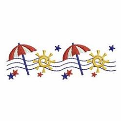 Patriotic Umbrella Border embroidery design