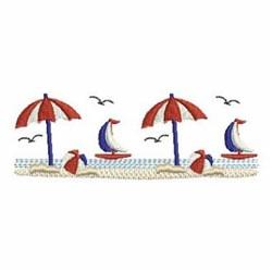 Patriotic Umbrellas & Sailboats embroidery design