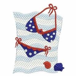Patriotic Bikini embroidery design