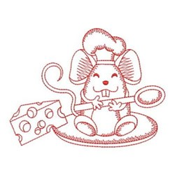 Redwork Mouse & Spoon embroidery design