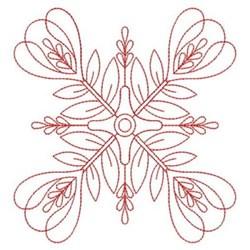 Redwork Floral Quilt Block embroidery design
