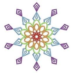 Diamond Rainbow Quilt Piece embroidery design
