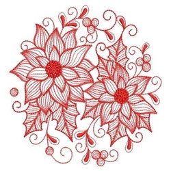 Redwork Rippled Circle embroidery design