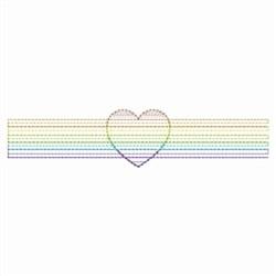 Rippled Heirloom Heart Border embroidery design