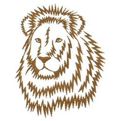 African Wild Lion embroidery design