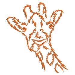 African Giraffe Outline embroidery design